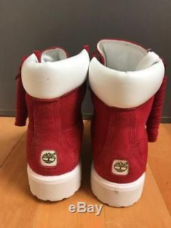Timberland 6 Inch Premium Boot Red Suede 6'' Construction Sz 7-13 57591