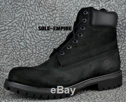 Timberland 6 Inch Premium Boot TB010073 Black Suede Mens NEW IN BOX SALE 6