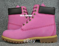 Timberland 6 Inch Premium Boot TB0625A Pink Cancer Awareness NEW IN BOX SALE 6