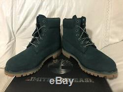 Timberland 6 Inch Premium Dark Green Boots Limited Release Mens Size 11 New