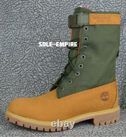 Timberland 6 Inch Premium Gator TB0A1QY8 Wheat Green NEW IN BOX Limted Edition