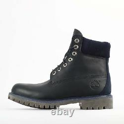 Timberland 6 Inch Premium Luxe Mens Navy Blue Waterproof Leather Boots WithL