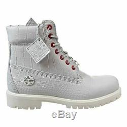 Timberland 6 Inch Premium Men's Boots White Exotic tb0a1p9q 9.5 D(M) US