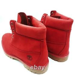 Timberland 6-Inch Premium RED NUBUCK A1149 Waterpoof Men's Size 12 New