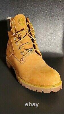 Timberland 6 Inch Premium Shearling Warm Lined Wheat Nubuck Boots A295D 11.5