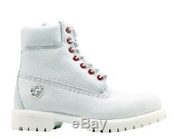 Timberland 6-Inch Premium Waterproof White Exotic Serpent Men's Boots A1P9Q