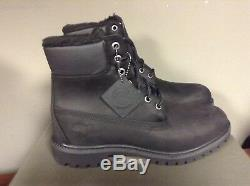 Timberland 6 Inch Waterproof Fur Lined Boots A115t Black Nubuck New