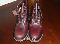 Timberland 6 Premium Burgundy boots new 6559A mens size 15