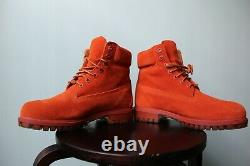 Timberland 6 Premium Waterproof Suede Boots Autumn Leaf Rust SZ. 8 TB0A18PO