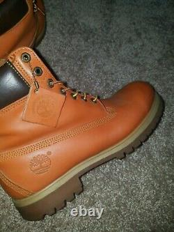 Timberland 6 inch Boot Orange Leather size 10M, wheat timbs, 40 belows, field