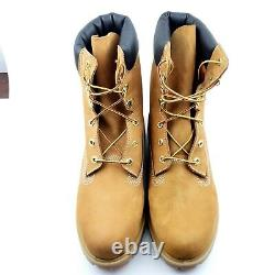 Timberland 8 Premium Mens Wheat Waterproof Suede Leather Boots 12281 Sz 11 M