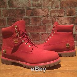 Timberland A1jlt Limited Edition Men's 6 Red Premium Waterproof Boots. Size12