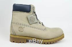 Timberland AF 6in Premium Boot Gray Navy Blue Leather Mens Boots 6940R 1702-09