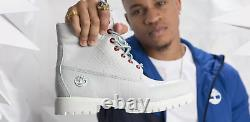 Timberland Boot Limited Release TB0A1P9Q White Serpent / Red Eyes Men's 14