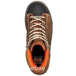 Timberland Boots Men Gridworks 6 Soft Toe Waterproof Brown Leather A1KRM