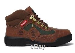 Timberland Field Boot x Supreme Brown Croc Snakeskin LIMITED Size 11.5 FW16