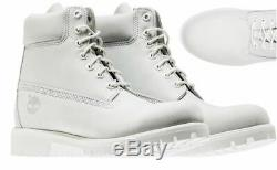 Timberland Ghost White Limited Edition Release Mens 6 Inch Waterproof Boots 11
