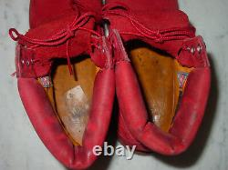Timberland Leather Red Nubuck Premium Waterproof Limited Release Boots! Size 8