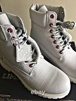 Timberland Limited Release Exotic White Serpent 6 Mens Boots 9.5 New Authentic