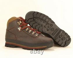 Timberland MEN'S CLASSIC LEATHER EURO HIKER Brown Ankle Shoes BOOTS Style 6534A