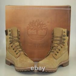 Timberland Made In USA 8 Inch Waterproof Boot. Wicket Crate (wheat) Size 8.5