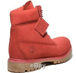 Timberland Men's 6 Inch Medium Red Premium Leather Waterproof Boots Style A1149