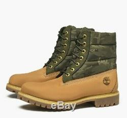 Timberland Men's 6-Inch Premium Puffer Wheat/Camo Boots A1ZRH ALL-SIZES NEW