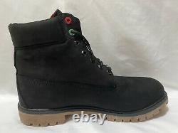 Timberland Men's 6-Inch Waterproof Boots Black Nubuck, Size 13, New With Box