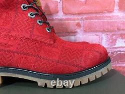 Timberland Men's 6-inch Premium Waterproof Fabric Boots Red Patch A27ra Sizes