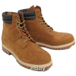 Timberland Men's 6inch RUST BROWN PREMIUM VALUE WORK BOOTS 73542 ALL SIZES+USA+