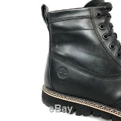 Timberland Men's Britton Hil Black Leather Side Zip Boots A1JIO