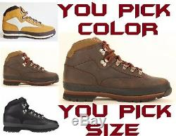 Timberland Men's Classic Leather Euro Hiker Hiking Boots Shoes Pick Color & Size