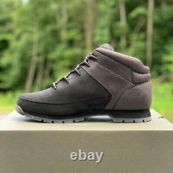 Timberland Men's Euro Hiker Black Leather Boots ALL SIZES