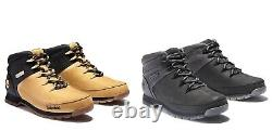 Timberland Men's Euro Sprint Leather Hiker Boots Wheat Black Gray A1NHJ