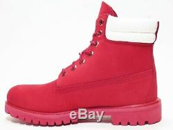 Timberland Men's Holiday Limited Edition Waterproof 6 inch Boots Red / Black