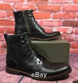 Timberland Men's Kendrick Side-zip Boots Black Leather A1n19 Us Size 12