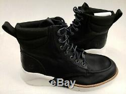 Timberland Men's MTCR Moc-Toe Sneaker Boots Black Leather sample size 9