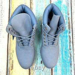 Timberland Men's Premium 6 Inch Light Blue Leather Boots
