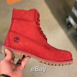 Timberland Men's Premium 6 Inch Red Leather Boots