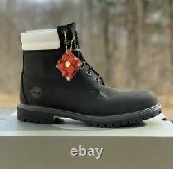 Timberland Men's Premium 6 Limited Edition Boots Double Collar Black A2b2n