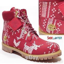 Timberland Men's Red Limited Release The Ugly Sweater 6 Inch