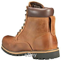 Timberland Men's Rugged 6-in Waterproof Boots in Mid Brown Full Grain (TB074134)