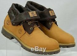 Timberland Mens 48520 Roll Top 6 Boots Size 12M Wheat/Brown Nubuck Leather