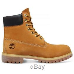 Timberland Mens 6 Inch Classic 10061 Yellow Premium Wide Waterproof Boots Size