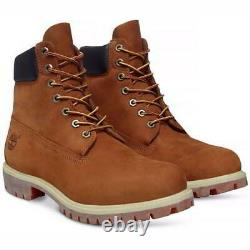Timberland Mens 6 Inch Premium Rust Yellow Waterproof Ankle Boots Size UK 7-11