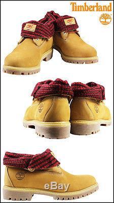 Timberland Mens 6 inch Wheat Red ROLLTOP Waterproof Boots DOUBLE SOLE 6837A 13