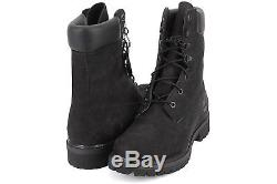 Timberland Mens 8 Inch Premium Boot Black Out Nubuck Leather 98540