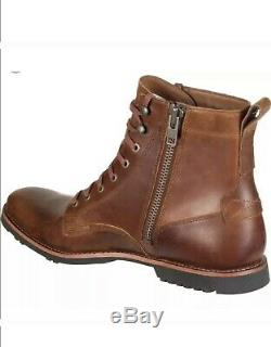 Timberland Mens A1MZX Kendrick Side-Zip Brown Ankle Boots SZ 12 Brand New