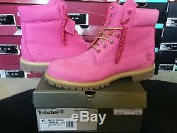 Timberland Mens Classic 6 Inch Premium Pink Breast Cancer Nubuck Boots A1FMR