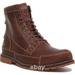 Timberland Mens Earth Keeper 6 Inch Wide Fit Lace Up Brown Boots Size UK 8-11
